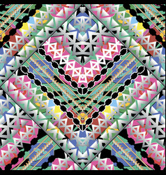 colorful bright geometric seamless pattern vector image