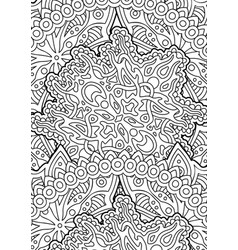 coloring book page with beautiful linear pattern vector image