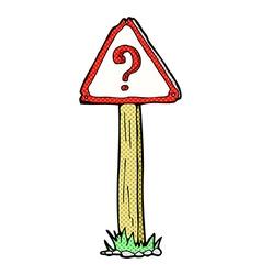 Comic cartoon question mark sign vector