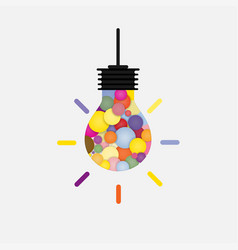 Creative bulb light idea abstract design vector