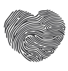 Dashed Line Fingerprint vector image