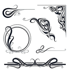 Design elements and borders vector image