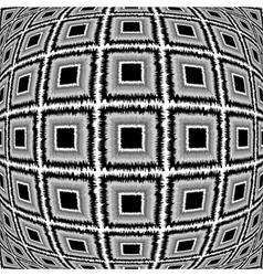 Design warped monochrome checked pattern vector