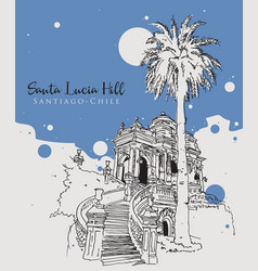 drawing sketch santa lucia hill vector image