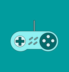 Flat icon on background game joystick vector