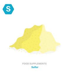Flat isolated icon food supplements vector