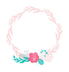 floral wreath bouquet flowers botanical elements vector image
