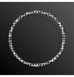 Frame Silver Sequins Circle Glitter sparkle vector