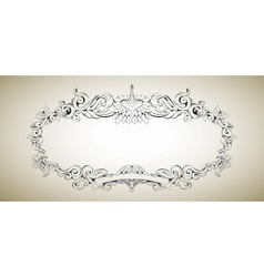 frame with floral elements for registration 3 vector image