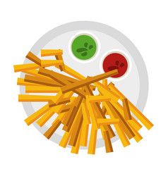 French fries fast food vector