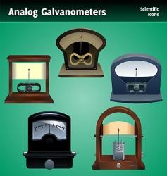 galvanometer icon set vector image