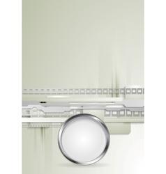 Grey hi-tech background with metallic vector image