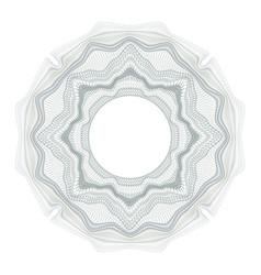 Guilloche element for design diploma vector