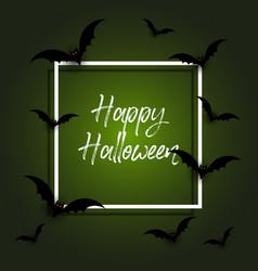 Halloween background with bats vector