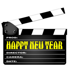 Happy new year clapper vector
