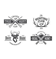 hunt emblems 1 vector image