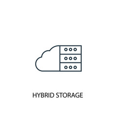hybrid storage concept line icon simple element vector image