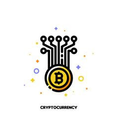icon of abstract cryptocurrency coin for money vector image