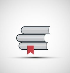 icons stacks of books vector image