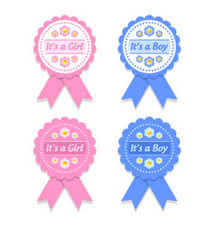 its a girl and boy rosettes vector image