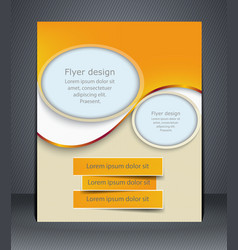 Layout flyer business brochure flyer template vector