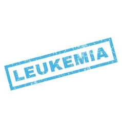 Leukemia Rubber Stamp vector