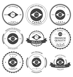 Made in Brazil seals badges vector image