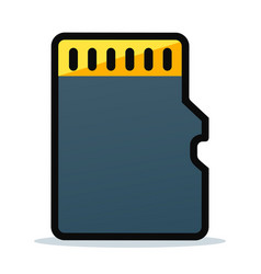 memory card icon design vector image