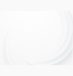 Modern abstract white curve background vector