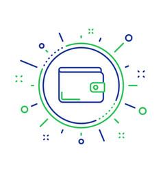Money wallet line icon cash symbol vector