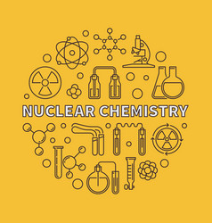 nuclear chemistry round in vector image