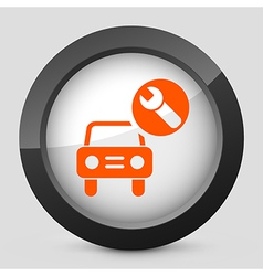 orange and gray elegant glossy icon vector image