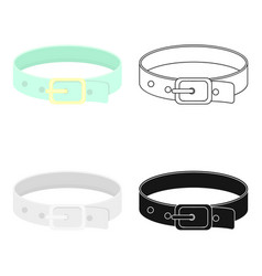 pet collar icon in cartoon style isolated on white vector image