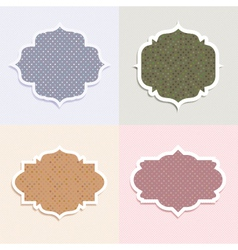 polka dot themed labels vector image