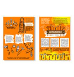 Poster of handy service repair work tools vector
