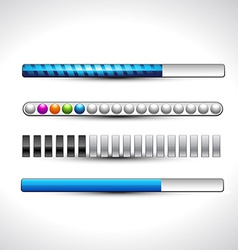 Progess loading bars vector