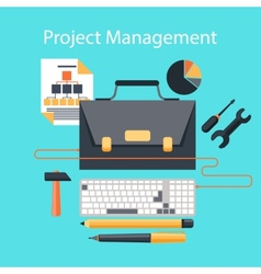 Project management flat design concept vector