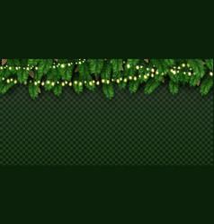 realistic holiday decorative lights on christmas vector image