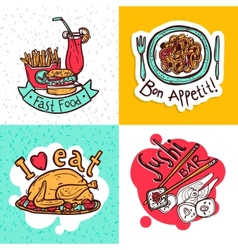 Restaurant concept icons composition design vector