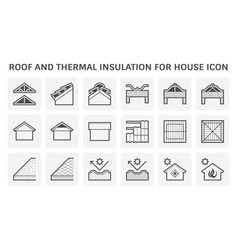 Roof tile and structure and thermal insulation vector