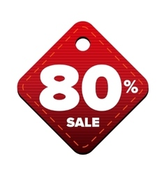 Sale eighty percent pricetag red vector