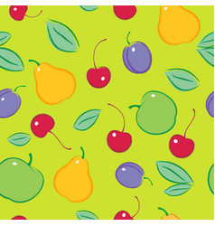 seamless fruit berries pattern vector image