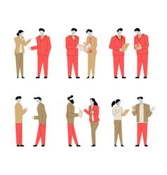 Set modern cartoon flat people characters vector