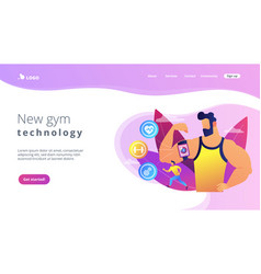smart training concept landing page vector image