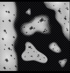 soap foam monochrome background vector image