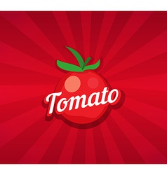 Tomato on Red Background vector image