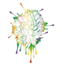 Tulips Grunge Sketch2 vector image vector image