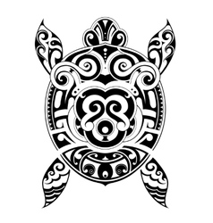 Turtle tattoo shape vector