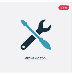 two color mechanic tool icon from user interface vector image