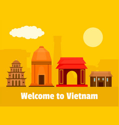 welcome to vietnam background flat style vector image